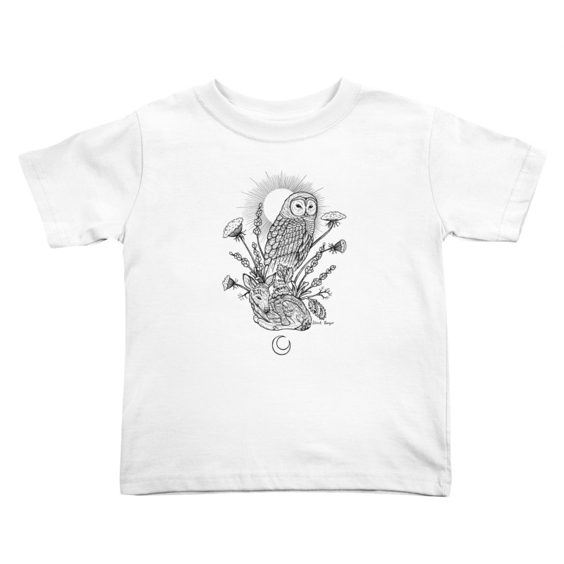 Owl & Fawn Kids Toddler T-Shirt by Black Banjo Arts