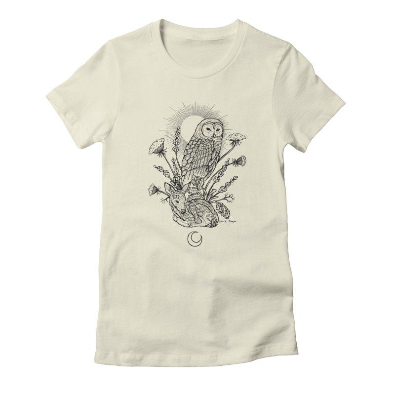 Owl & Fawn Women's T-Shirt by Black Banjo Arts