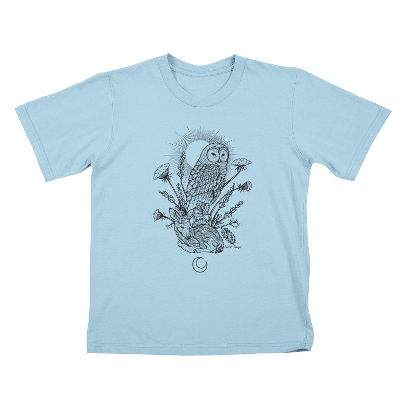 Owl & Fawn Kids T-Shirt by Black Banjo Arts