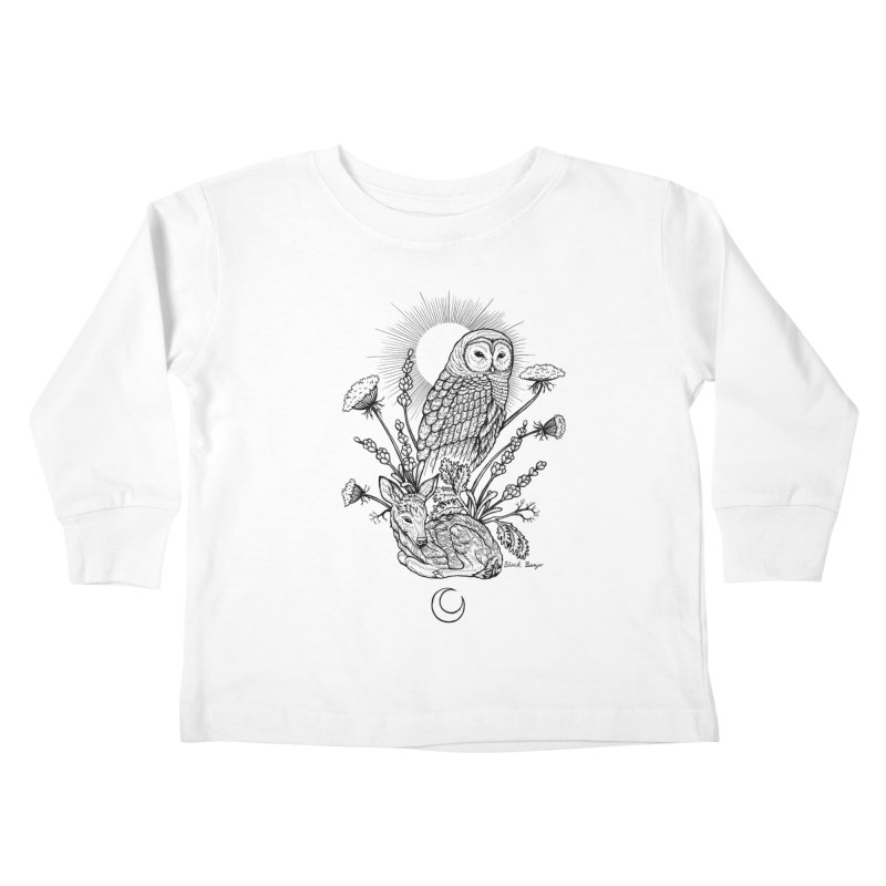Owl & Fawn Kids Toddler Longsleeve T-Shirt by Black Banjo Arts