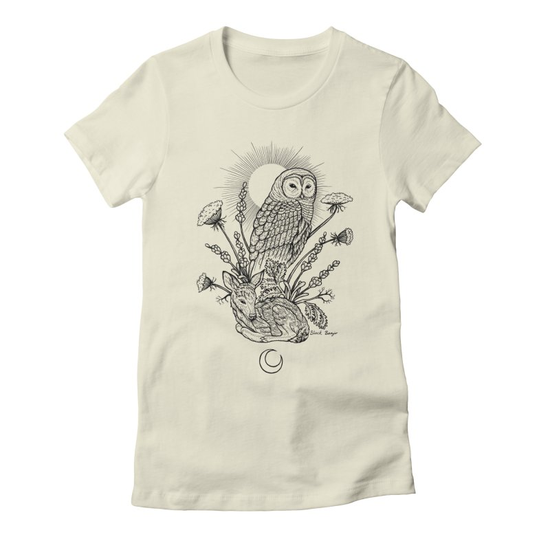 Owl & Fawn Women's T-Shirt by Black Banjo Arts