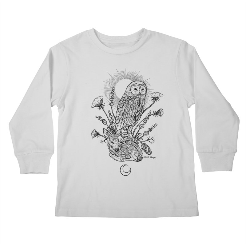 Owl & Fawn Kids Longsleeve T-Shirt by Black Banjo Arts