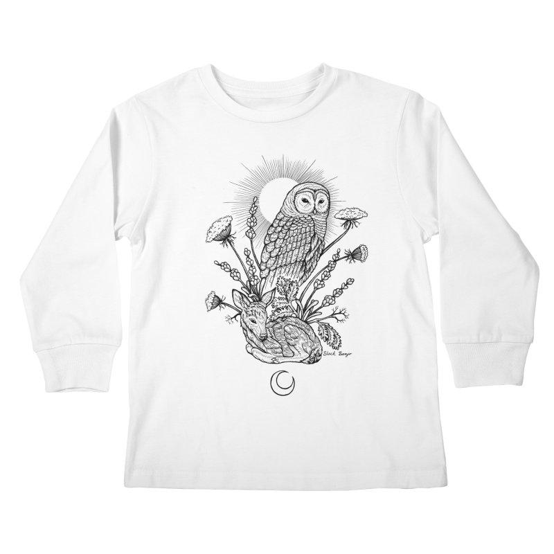 Owl & Fawn Kids Longsleeve T-Shirt by Black Banjo Arts