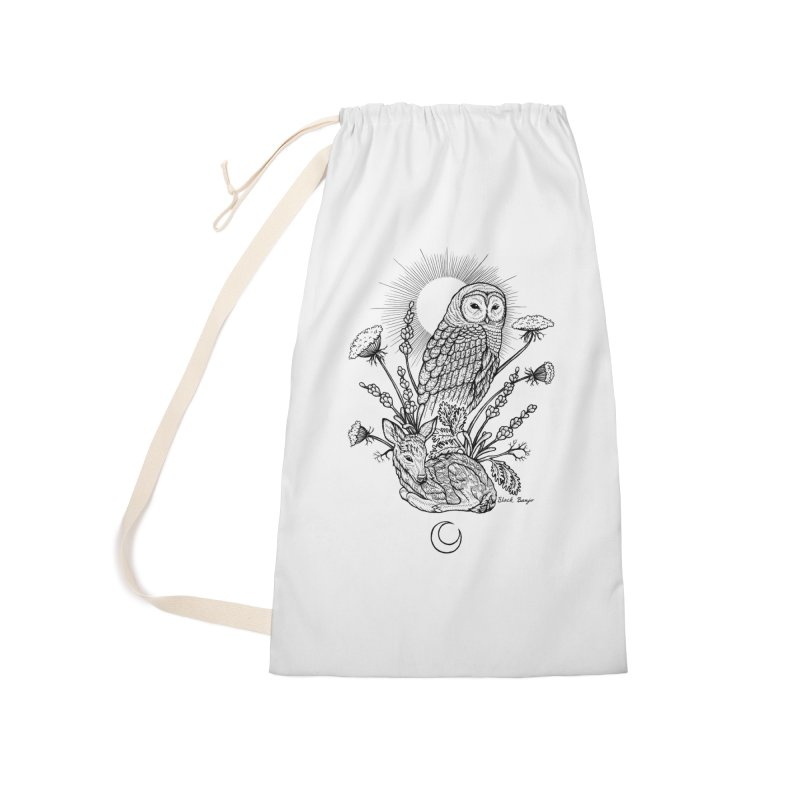 Owl & Fawn Accessories Laundry Bag Bag by Black Banjo Arts
