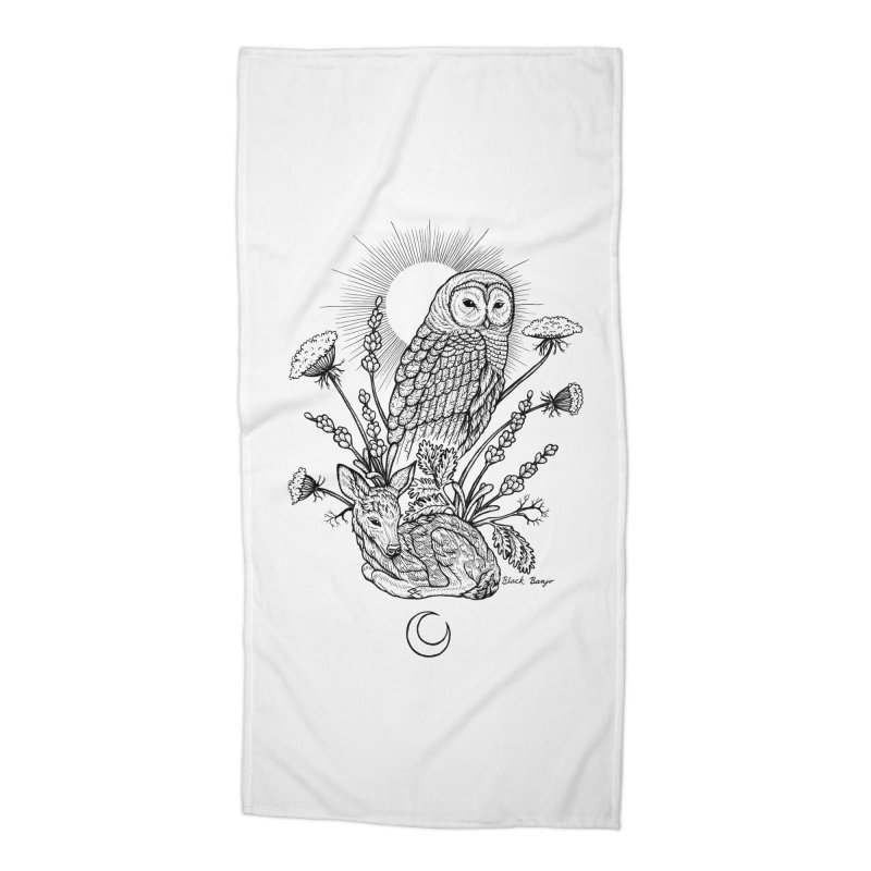 Owl & Fawn Accessories Beach Towel by Black Banjo Arts