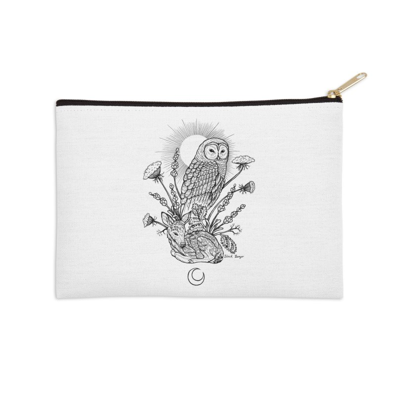 Owl & Fawn Accessories Zip Pouch by Black Banjo Arts