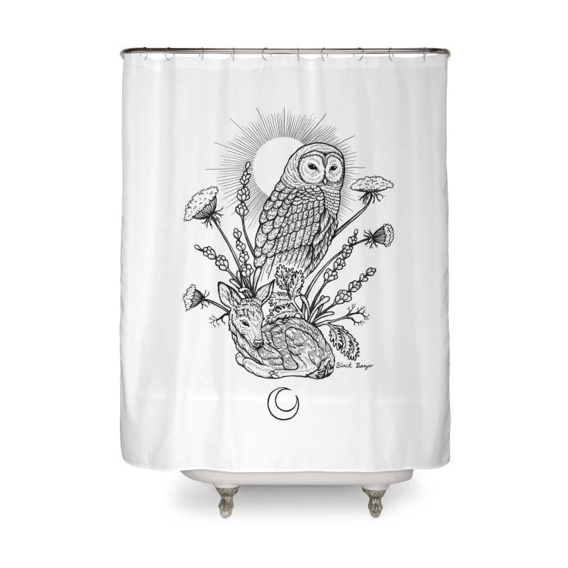 Owl & Fawn Home Shower Curtain by Black Banjo Arts