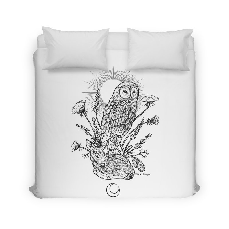 Owl & Fawn Home Duvet by Black Banjo Arts