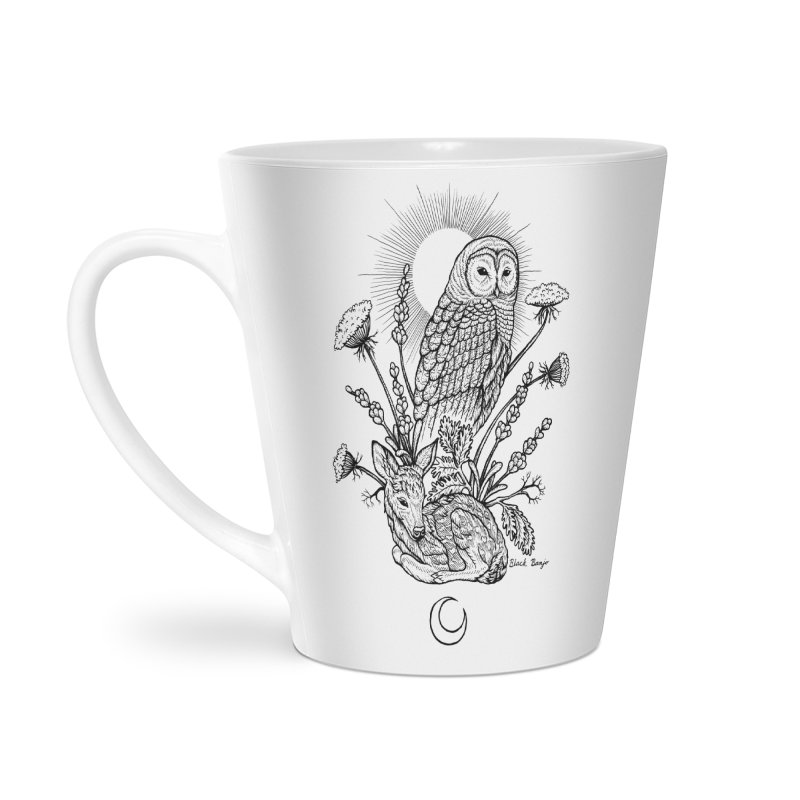 Owl & Fawn Accessories Latte Mug by Black Banjo Arts