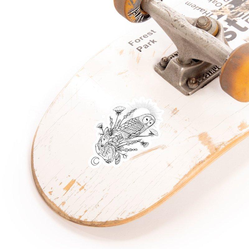 Owl & Fawn Accessories Sticker by Black Banjo Arts