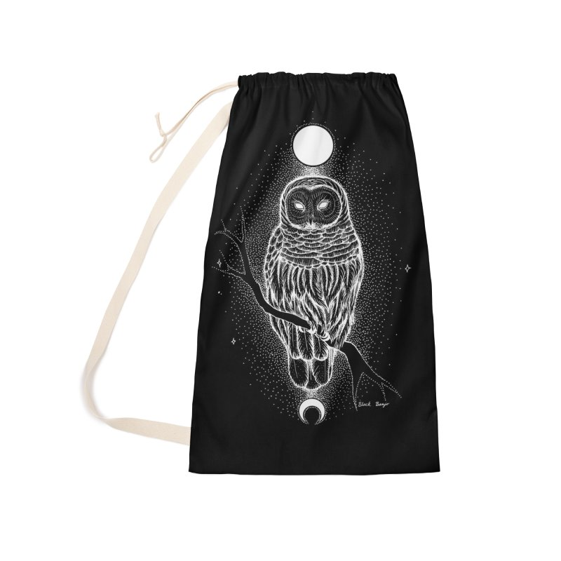 The Celestial Owl Accessories Laundry Bag Bag by Black Banjo Arts