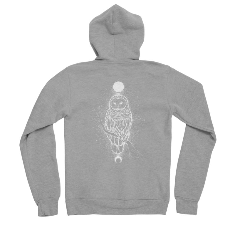 The Celestial Owl Men's Zip-Up Hoody by Black Banjo Arts
