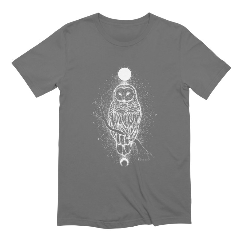 The Celestial Owl Men's T-Shirt by Black Banjo Arts