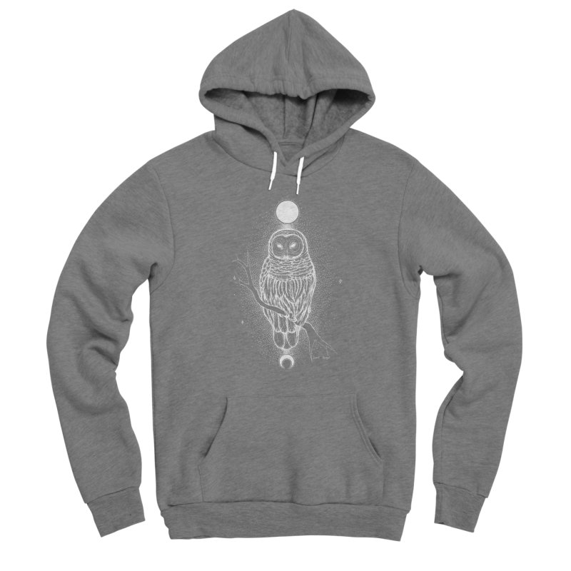 The Celestial Owl Men's Pullover Hoody by Black Banjo Arts