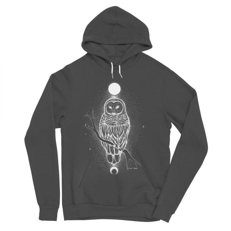 The Celestial Owl Women's Sponge Fleece Pullover Hoody by Black Banjo Arts