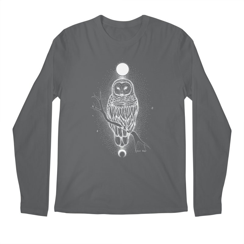 The Celestial Owl Men's Longsleeve T-Shirt by Black Banjo Arts