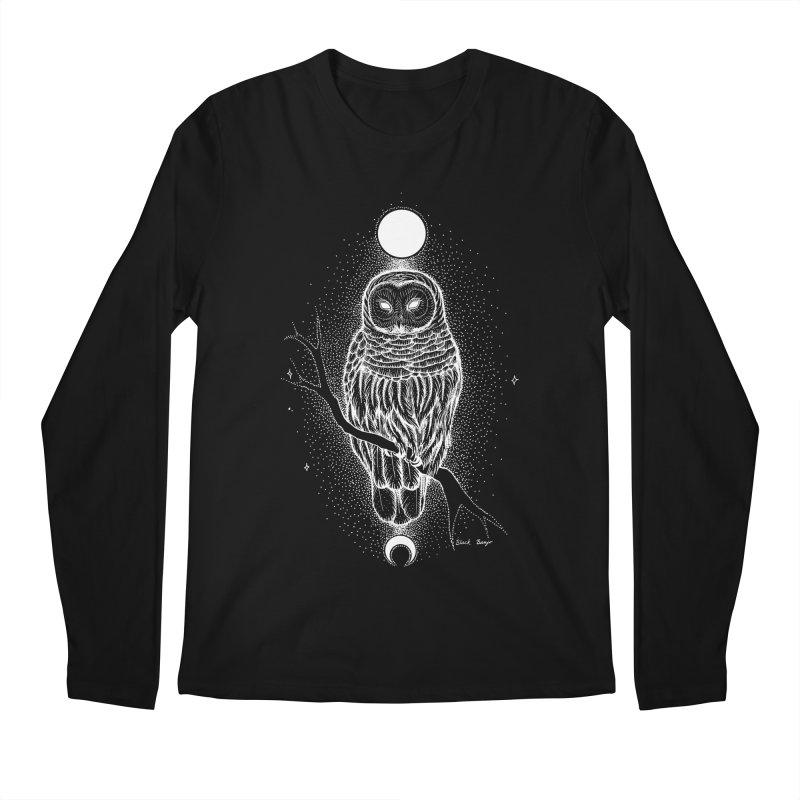 The Celestial Owl Men's Regular Longsleeve T-Shirt by Black Banjo Arts
