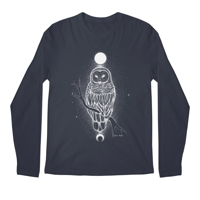 The Celestial Owl Men's Regular Longsleeve T-Shirt by Black Banjo Arts