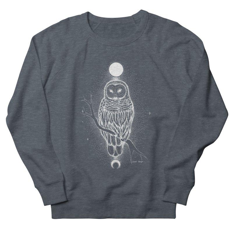 The Celestial Owl Men's French Terry Sweatshirt by Black Banjo Arts