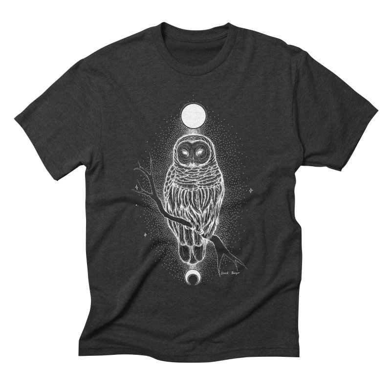 The Celestial Owl Men's Triblend T-Shirt by Black Banjo Arts