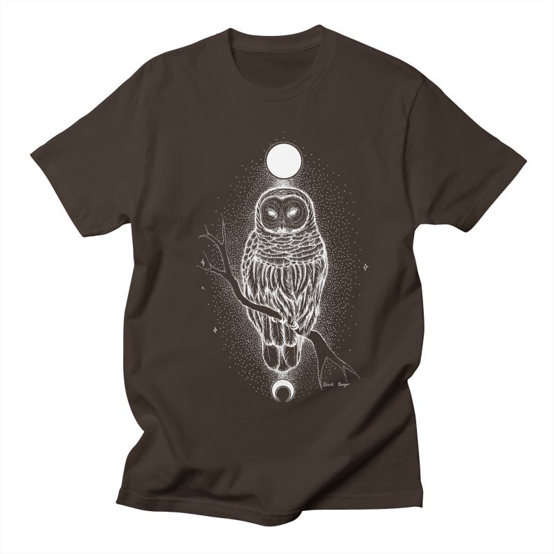 The Celestial Owl Men's Regular T-Shirt by Black Banjo Arts