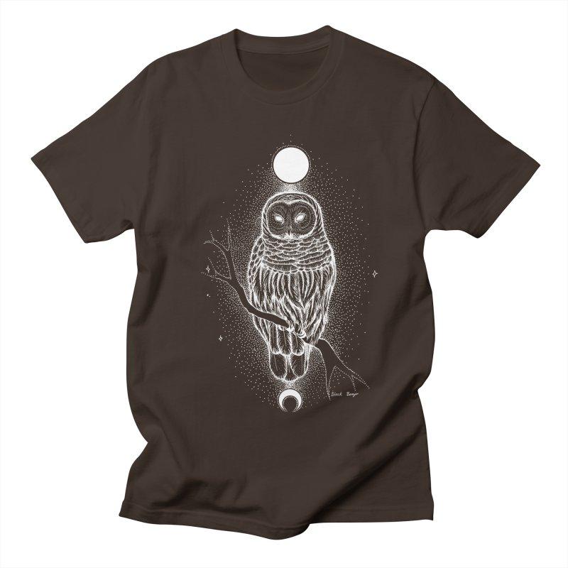 The Celestial Owl Men's Regular T-Shirt by Black Banjo Arts