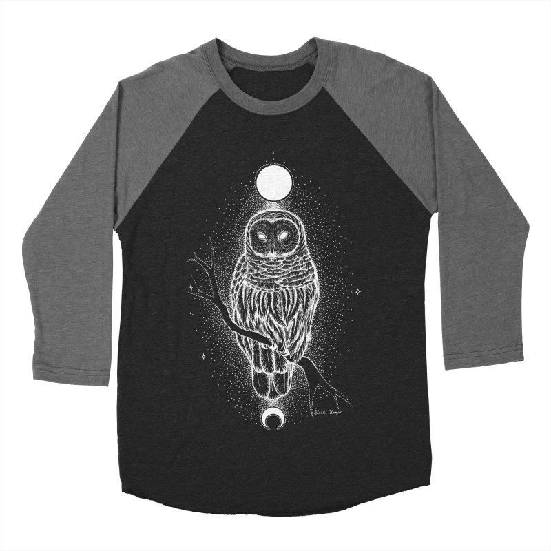 The Celestial Owl Women's Baseball Triblend Longsleeve T-Shirt by Black Banjo Arts