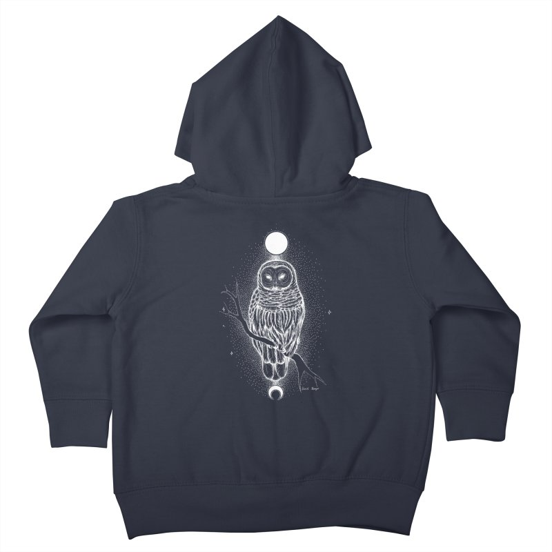 The Celestial Owl Kids Toddler Zip-Up Hoody by Black Banjo Arts