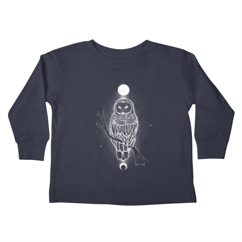 The Celestial Owl Kids Toddler Longsleeve T-Shirt by Black Banjo Arts
