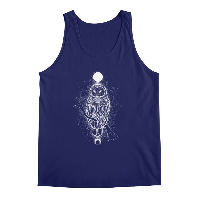 The Celestial Owl Men's Regular Tank by Black Banjo Arts