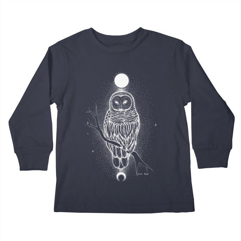 The Celestial Owl Kids Longsleeve T-Shirt by Black Banjo Arts