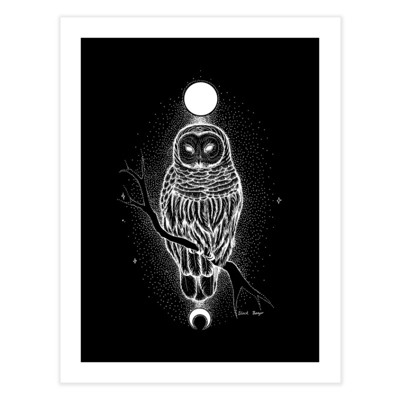 The Celestial Owl Home Fine Art Print by Black Banjo Arts