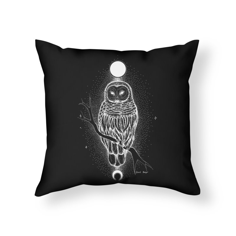 The Celestial Owl Home Throw Pillow by Black Banjo Arts