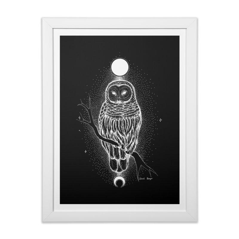 The Celestial Owl Home Framed Fine Art Print by Black Banjo Arts
