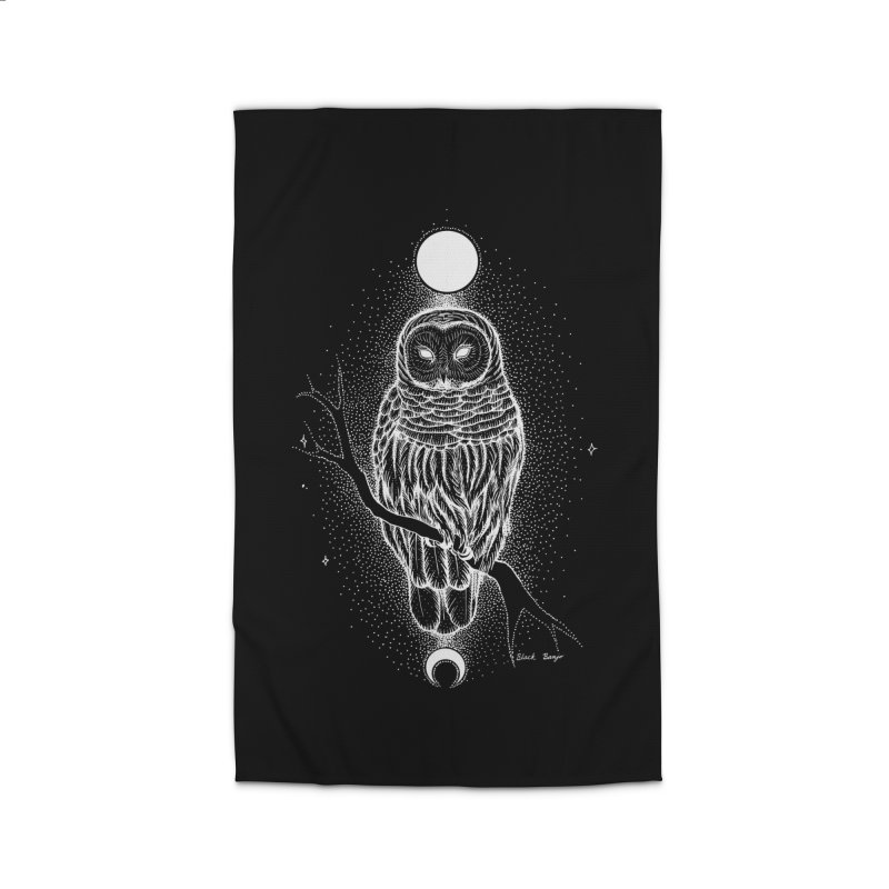 The Celestial Owl Home Rug by Black Banjo Arts