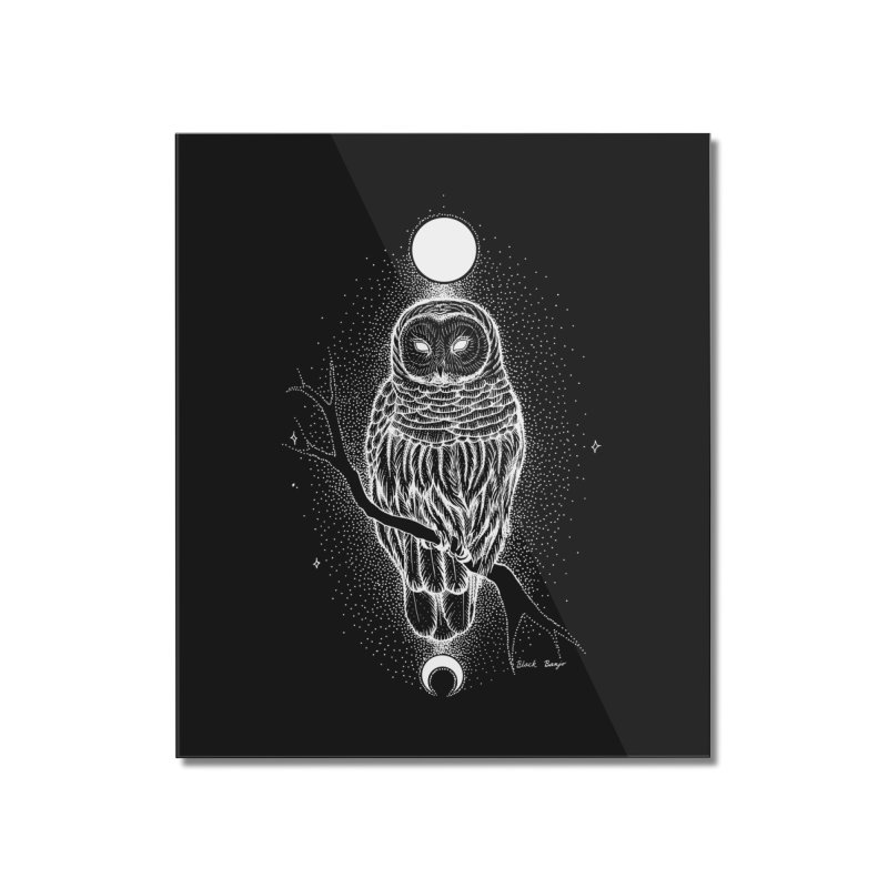 The Celestial Owl Home Mounted Acrylic Print by Black Banjo Arts