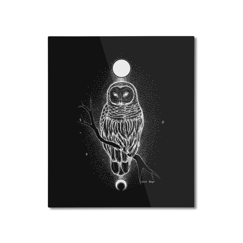 The Celestial Owl Home Mounted Aluminum Print by Black Banjo Arts