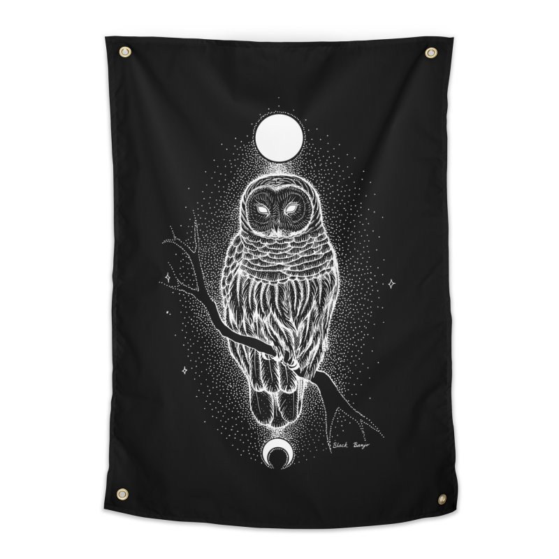 The Celestial Owl Home Tapestry by Black Banjo Arts