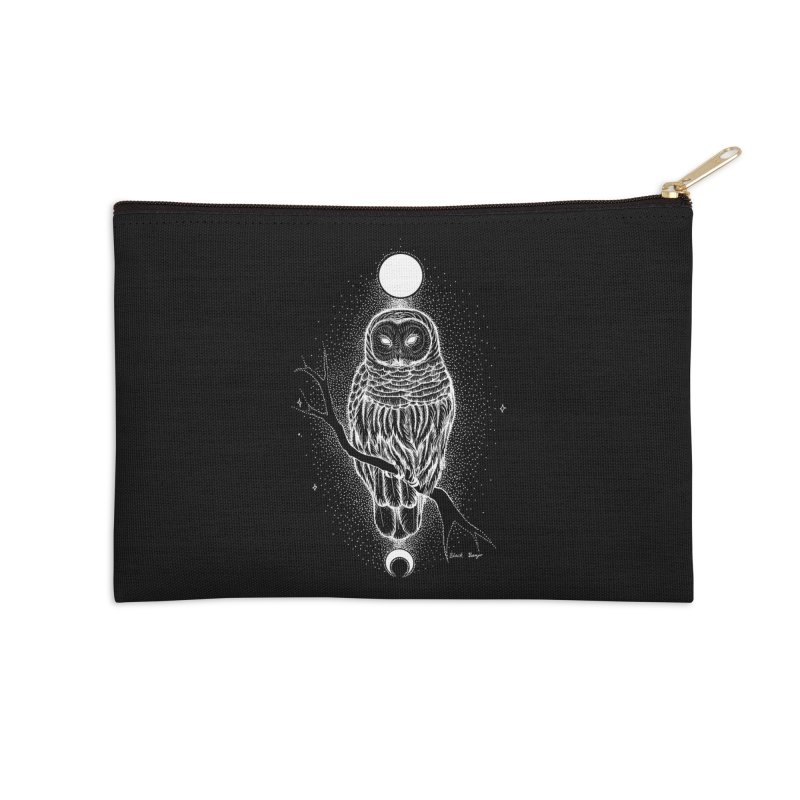 The Celestial Owl Accessories Zip Pouch by Black Banjo Arts