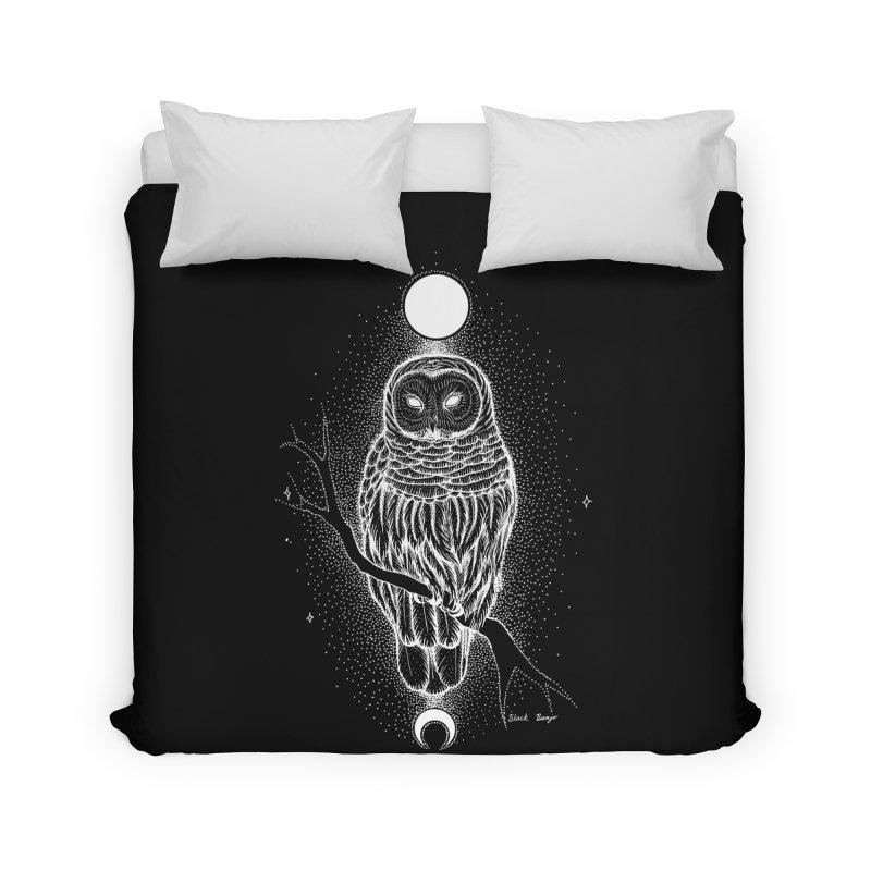 The Celestial Owl Home Duvet by Black Banjo Arts
