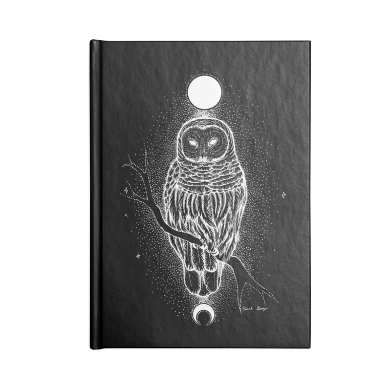 The Celestial Owl Accessories Notebook by Black Banjo Arts