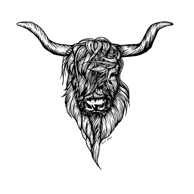 The Highland Cow   by Black Banjo Arts