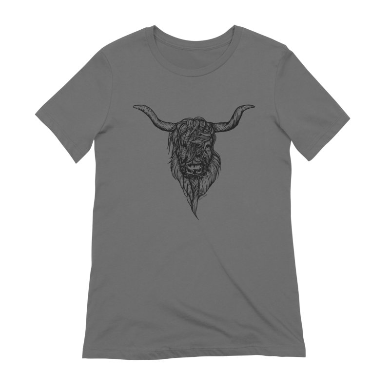 The Highland Cow Women's Extra Soft T-Shirt by Black Banjo Arts
