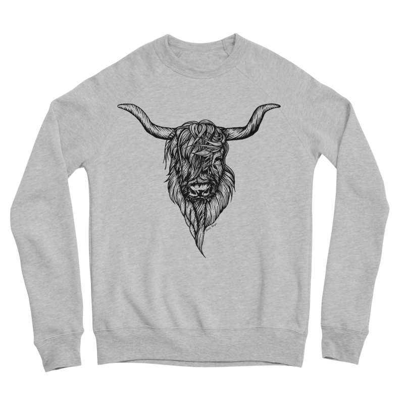 The Highland Cow Women's Sponge Fleece Sweatshirt by Black Banjo Arts