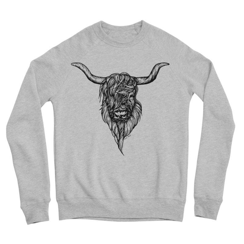 The Highland Cow Men's Sponge Fleece Sweatshirt by Black Banjo Arts
