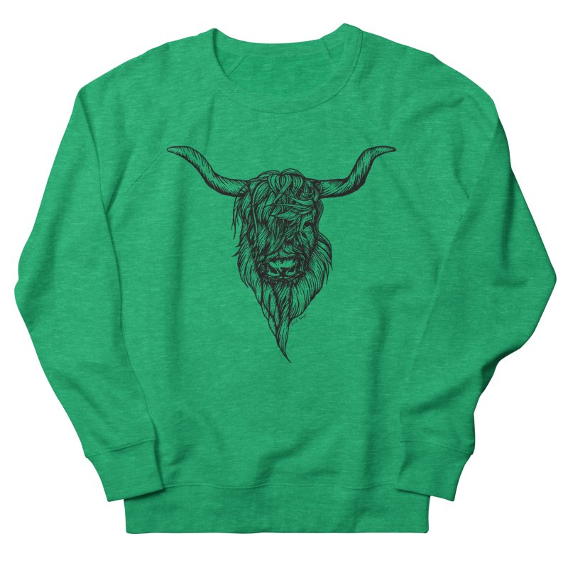The Highland Cow Women's Sweatshirt by Black Banjo Arts