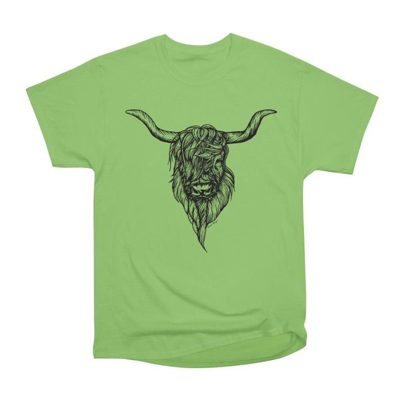 The Highland Cow Women's Heavyweight Unisex T-Shirt by Black Banjo Arts