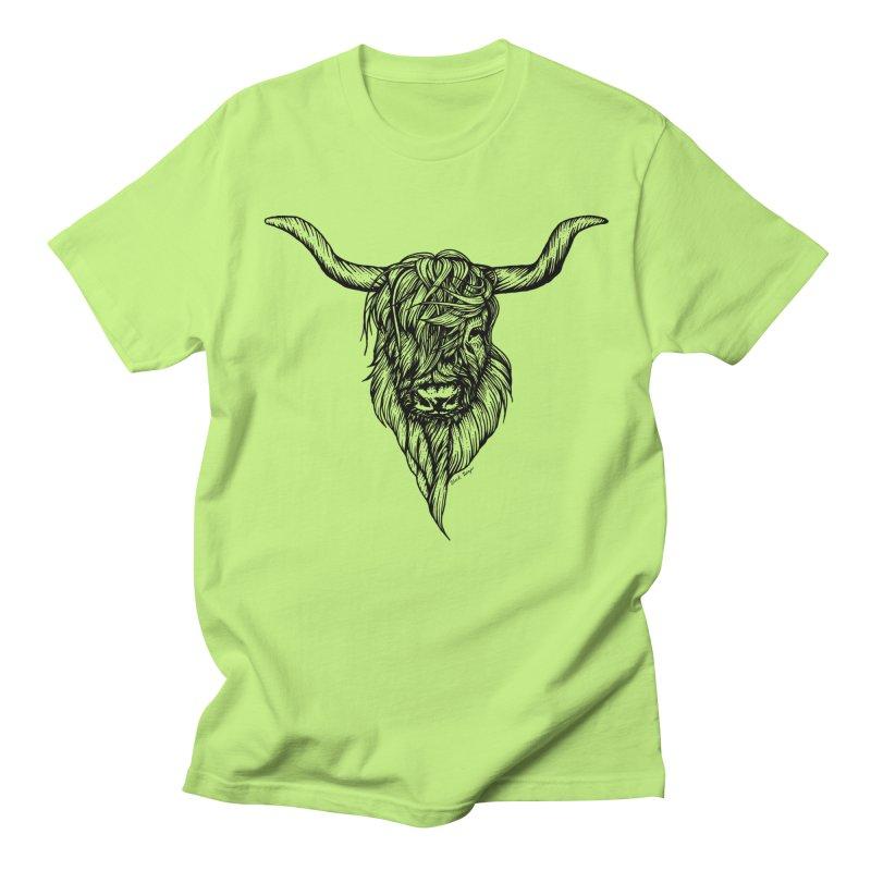 The Highland Cow Women's Regular Unisex T-Shirt by Black Banjo Arts