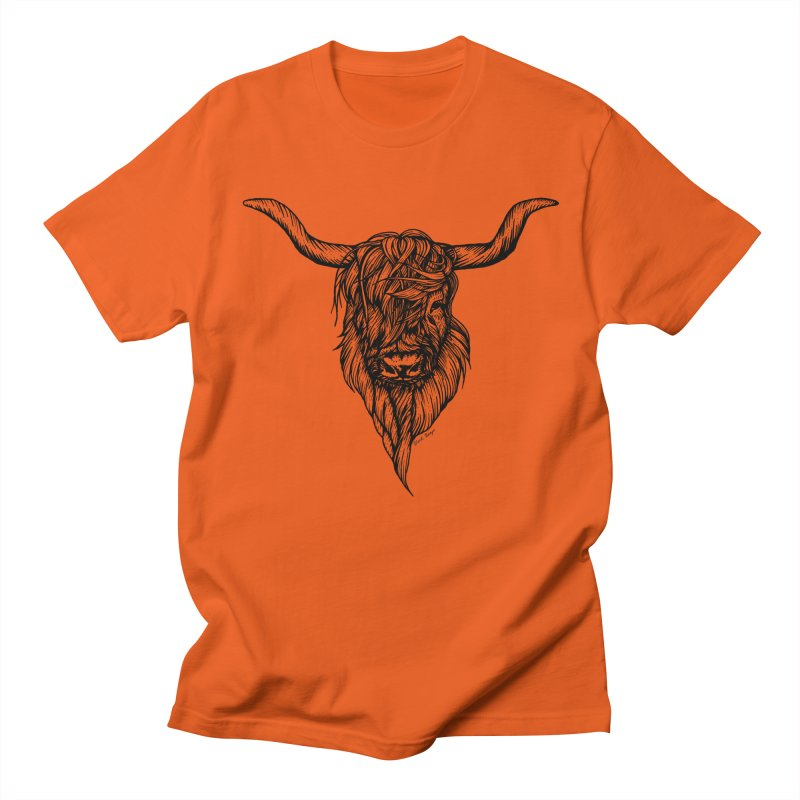 The Highland Cow Women's T-Shirt by Black Banjo Arts