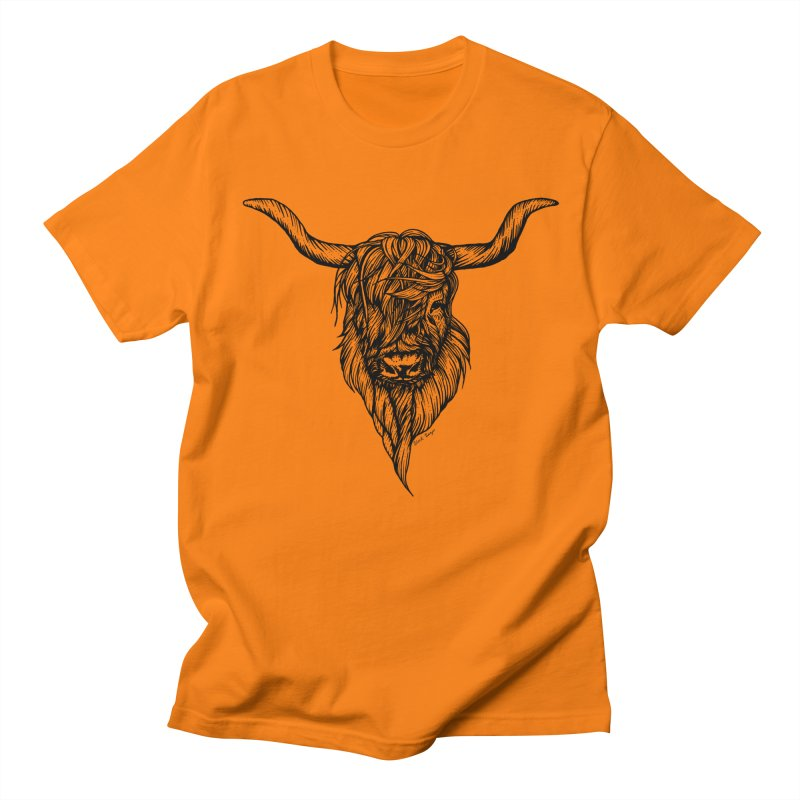 The Highland Cow Women's Regular Unisex T-Shirt by Black Banjo Arts